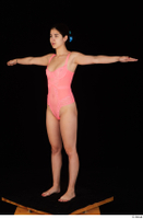 Lady Dee pink bodysuit pink underwear standing t poses whole body 0002.jpg