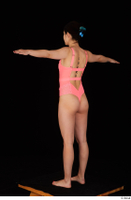 Lady Dee pink bodysuit pink underwear standing t poses whole body 0004.jpg