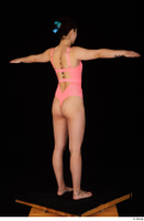 Lady Dee pink bodysuit pink underwear standing t poses whole body 0006.jpg