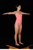 Lady Dee pink bodysuit pink underwear standing t poses whole body 0008.jpg