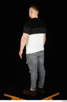 Torin blue jeans brown shoes standing t shirt whole body 0006.jpg