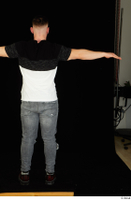 Torin blue jeans brown shoes standing t poses t shirt whole body 0005.jpg