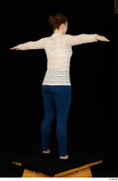 Ellie Springlare black sneakers blue jeans long sleeve shirt pink turtleneck standing t-pose whole body 0004.jpg