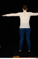 Ellie Springlare black sneakers blue jeans long sleeve shirt pink turtleneck standing t-pose whole body 0005.jpg