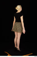 Marsha black high heels black t shirt dressed skirt standing whole body 0004.jpg