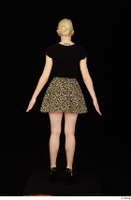 Marsha black high heels black t shirt dressed skirt standing whole body 0005.jpg