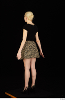 Marsha black high heels black t shirt dressed skirt standing whole body 0006.jpg