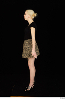 Marsha black high heels black t shirt dressed skirt standing whole body 0007.jpg