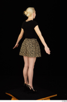 Marsha black high heels black t shirt dressed skirt standing whole body 0012.jpg