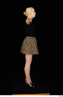Marsha black high heels black t shirt dressed skirt standing whole body 0019.jpg
