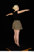 Marsha black high heels black t shirt dressed skirt standing whole body 0020.jpg