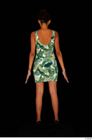 Luna Corazon dressed green patterned dress standing whole body 0005.jpg
