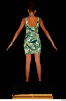 Luna Corazon dressed green patterned dress standing whole body 0013.jpg