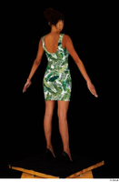 Luna Corazon dressed green patterned dress standing whole body 0014.jpg