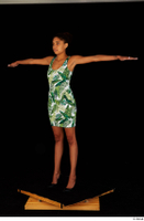 Luna Corazon dressed green patterned dress standing t-pose whole body 0002.jpg