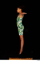 Luna Corazon dressed green patterned dress standing t-pose whole body 0003.jpg