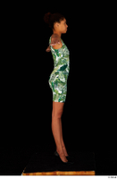 Luna Corazon dressed green patterned dress standing t-pose whole body 0007.jpg