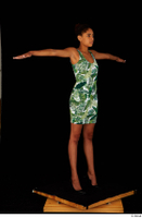 Luna Corazon dressed green patterned dress standing t-pose whole body 0008.jpg