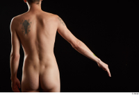 Falco White  1 arm back view flexing nude 0002.jpg