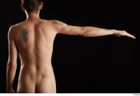 Falco White  1 arm back view flexing nude 0003.jpg