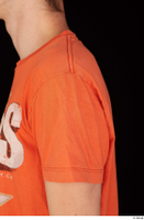 Falcon White casual orange t shirt upper body 0003.jpg