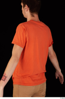 Falcon White casual orange t shirt upper body 0005.jpg