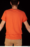 Falcon White casual orange t shirt upper body 0006.jpg