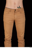 Falcon White brown trousers casual dressed hips thigh 0001.jpg