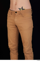 Falcon White brown trousers casual dressed hips thigh 0002.jpg