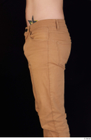 Falcon White brown trousers casual dressed hips thigh 0003.jpg