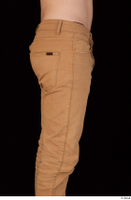 Falcon White brown trousers casual dressed hips thigh 0007.jpg