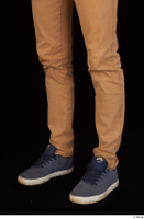 Falcon White blue sneakers brown trousers calf casual dressed 0002.jpg