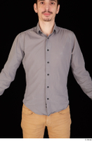 Falcon White business dressed grey shirt upper body 0001.jpg