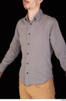 Falcon White business dressed grey shirt upper body 0004.jpg