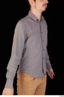 Falcon White business dressed grey shirt upper body 0014.jpg