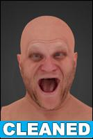 head scan - Tomas 02 Scream - CLEANED