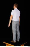 Oris brown shoes business dressed grey trousers standing white shirt whole body 0004.jpg