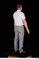 Oris brown shoes business dressed grey trousers standing white shirt whole body 0006.jpg