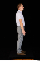 Oris brown shoes business dressed grey trousers standing white shirt whole body 0007.jpg