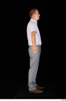 Oris brown shoes business dressed grey trousers standing white shirt whole body 0015.jpg