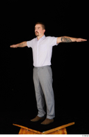 Oris brown shoes business dressed grey trousers standing t-pose white shirt whole body 0002.jpg