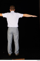 Oris brown shoes business dressed grey trousers standing t-pose white shirt whole body 0005.jpg