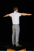Oris brown shoes business dressed grey trousers standing t-pose white shirt whole body 0006.jpg