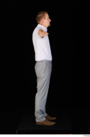 Oris brown shoes business dressed grey trousers standing t-pose white shirt whole body 0007.jpg
