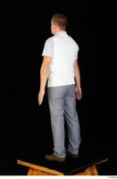 Oris brown shoes business dressed grey trousers standing vest white shirt whole body 0004.jpg