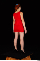 Charlie Red black high heels business dressed red dress standing whole body 0006.jpg