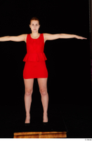 Charlie Red black high heels business dressed red dress standing t-pose whole body 0001.jpg