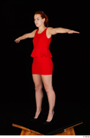 Charlie Red black high heels business dressed red dress standing t-pose whole body 0002.jpg