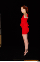 Charlie Red black high heels business dressed red dress standing t-pose whole body 0003.jpg
