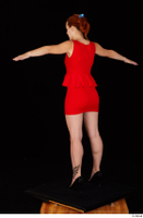 Charlie Red black high heels business dressed red dress standing t-pose whole body 0004.jpg